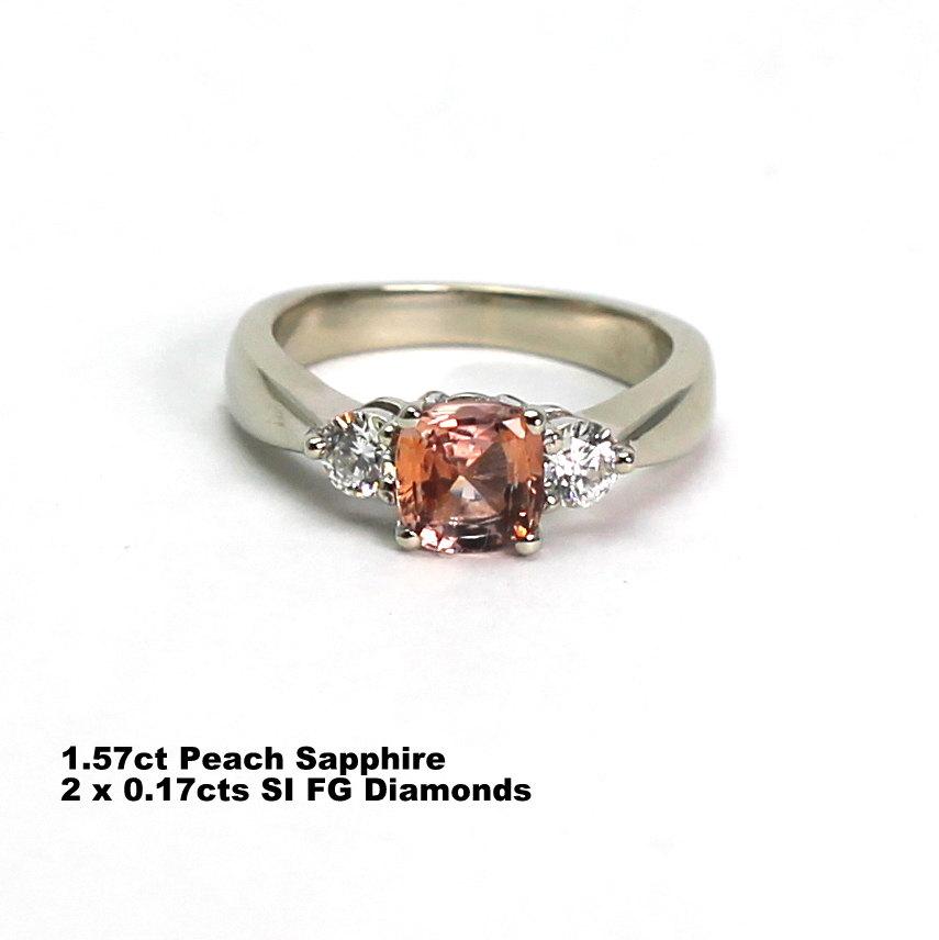 Peach sapphire engagement ring ceylon gems peach sapphire engagement ring junglespirit Choice Image